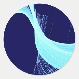 Ocean wave spin classic round sticker