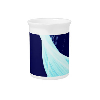 Ocean wave spin drink pitchers