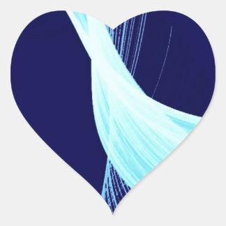 Ocean wave spin heart sticker
