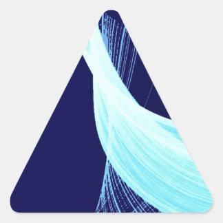 Ocean wave spin triangle sticker