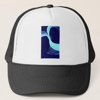 Ocean wave spin trucker hat