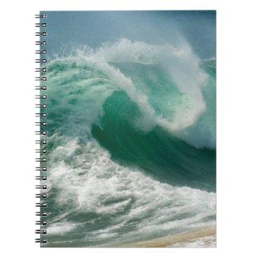 Ocean Themed Ocean Wave Spiral Notebook