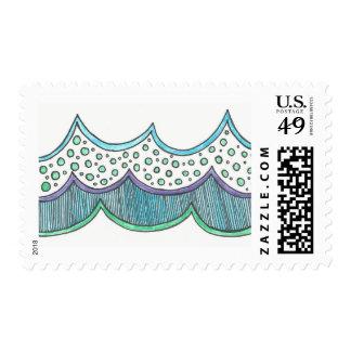 Ocean Wave Stamps