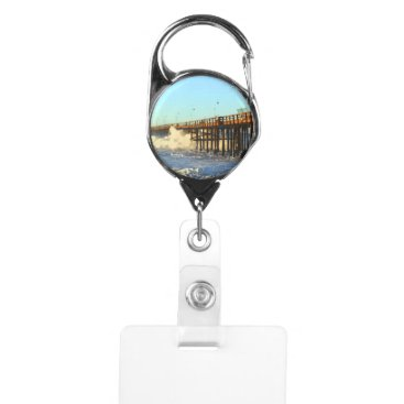 Ocean Wave Storm Pier Badge Holder