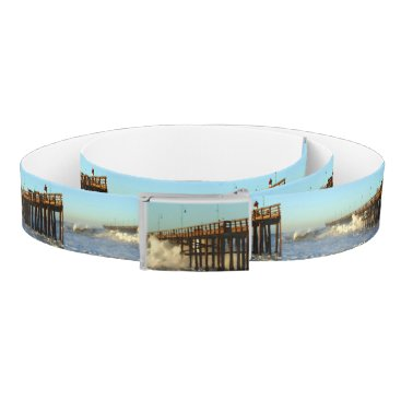 Beach Themed Ocean Wave Storm Pier Belt
