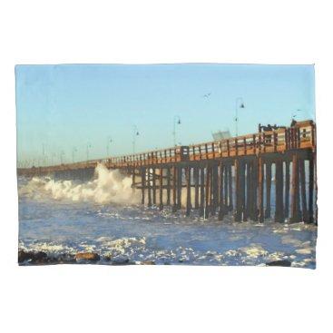Ocean Wave Storm Pier Pillowcase
