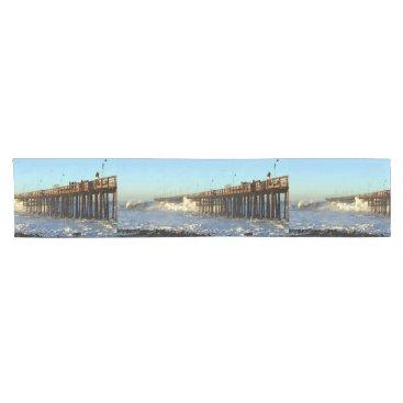Ocean Wave Storm Pier Short Table Runner