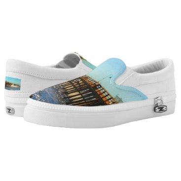 Ocean Wave Storm Pier Slip-On Sneakers