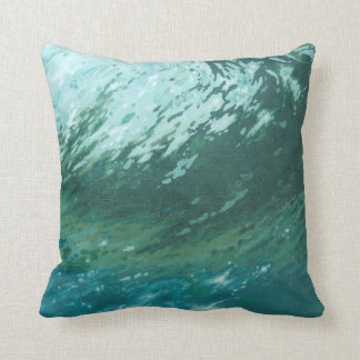 Ocean Wave Surf Beach Coastal Pillow by Juul