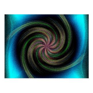 Ocean Wave Swirl Postcard