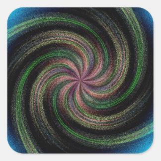 Ocean Wave Swirl Square Sticker