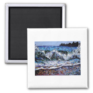 ocean waves 2 inch square magnet