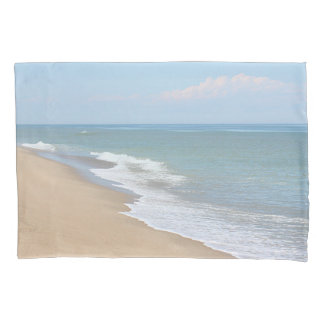 Ocean waves and beach pillowcase