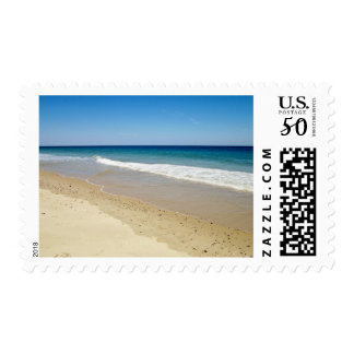 Ocean waves and beach postage