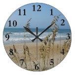 Ocean Waves and Sand Dune Sea Oats Landscape Photo Clocks