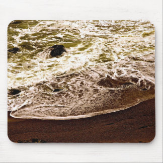 OCEAN WAVES AT A ROCKY BEACH MOUSE PAD