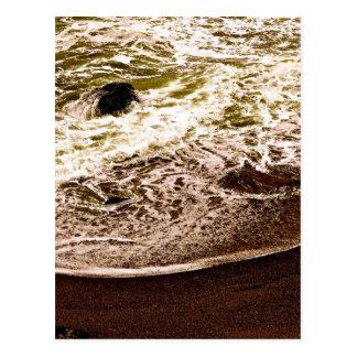 OCEAN WAVES AT A ROCKY BEACH POSTCARD