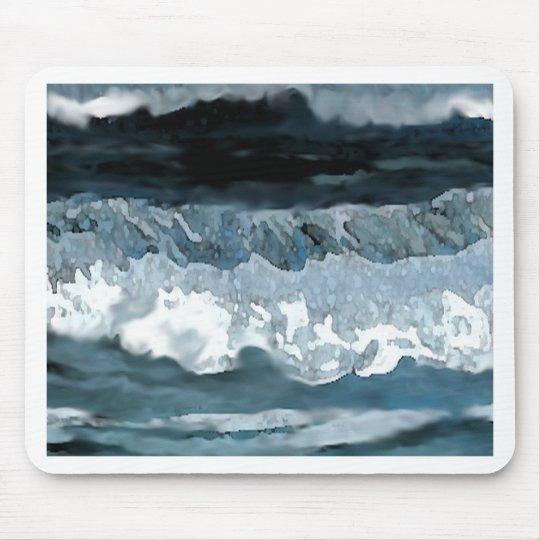 Ocean Waves at Night CricketDiane Seascape Mouse Pad