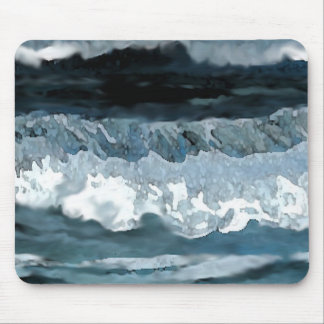Ocean Waves at Night Seascape Mousepad Office