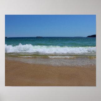 Ocean Waves at Sand Beach II Poster