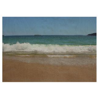 Ocean Waves at Sand Beach II Wood Poster