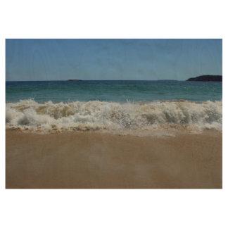 Ocean Waves at Sand Beach III Wood Poster