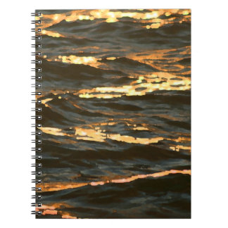 ocean waves at sunrise abstract florida beach notebooks