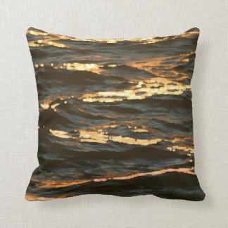 ocean waves at sunrise abstract florida beach pillow