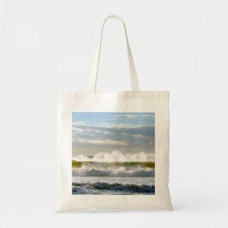 Ocean Waves Budget Tote Bag