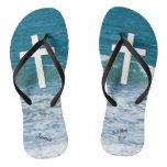 Ocean Waves Baptism Flip Flops