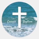 Ocean Waves Baptism sticker
