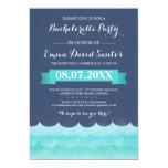 Ocean Waves Beach Bachelorette Party 5x7 Paper Invitation Card