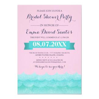 Ocean Waves Beach Bridal Shower Card