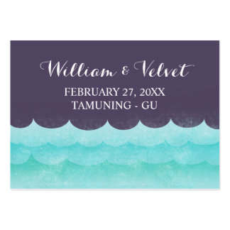 Ocean Waves Beach Place Cards Large Business Card