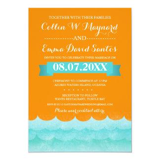 Ocean Waves Beach Wedding Invitations