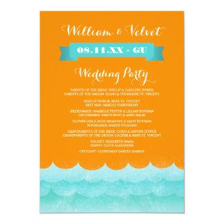 Ocean Waves Beach Wedding Programs Card