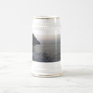 Ocean waves beer stein