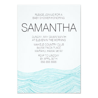 Ocean Waves Bridal or Baby Shower Invite