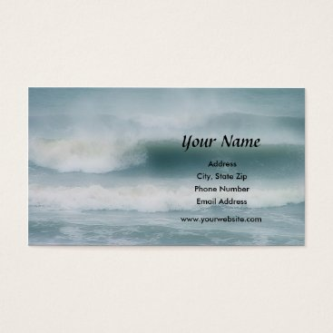 Professional Business Ocean Waves Business Card