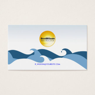 Ocean Waves Business Card V2