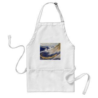 Ocean waves by Katsushika Hokusai Adult Apron