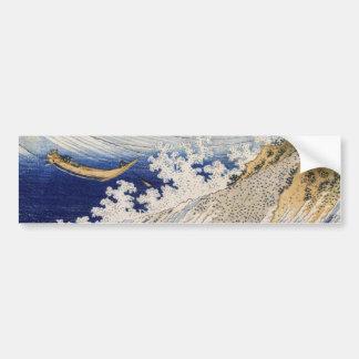 Ocean waves by Katsushika Hokusai Bumper Sticker