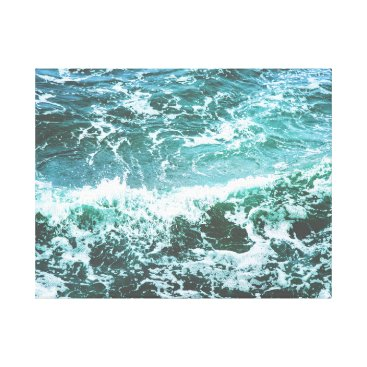 Beach Themed Ocean waves Canvas Print