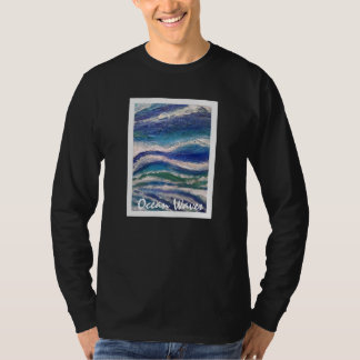 Ocean Waves Design Men's Basic Long Sleeve T-Shirt