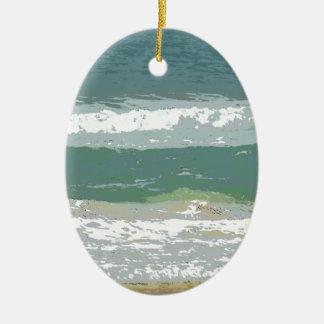 OCEAN WAVES GOLD COAST AUSTRALIA WITH ART EFFECTS CERAMIC ORNAMENT
