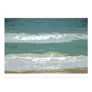 OCEAN WAVES GOLD COAST AUSTRALIA WITH ART EFFECTS POSTCARD