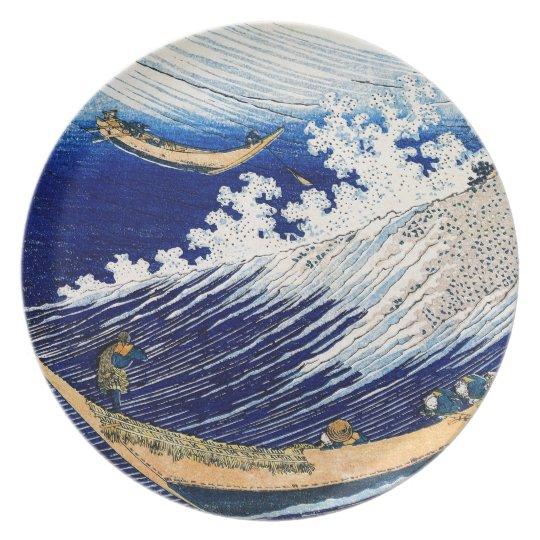 Ocean Waves Hokusai Japanese Fine Art Plate