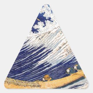 Ocean Waves Hokusai Triangle Sticker