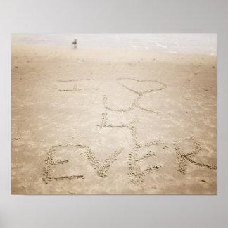 Ocean Waves I Love You Beach Poster