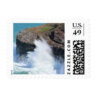Ocean waves in Hawaii Postage Stamp
